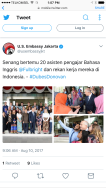 We met the US Ambassador to Indonesia and made an appearance on U.S Embassy of Jakarta's twitter page!