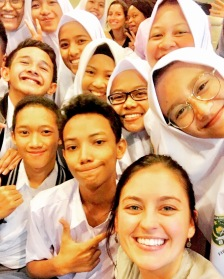 Happy heart after teaching 10th graders from Jakarta